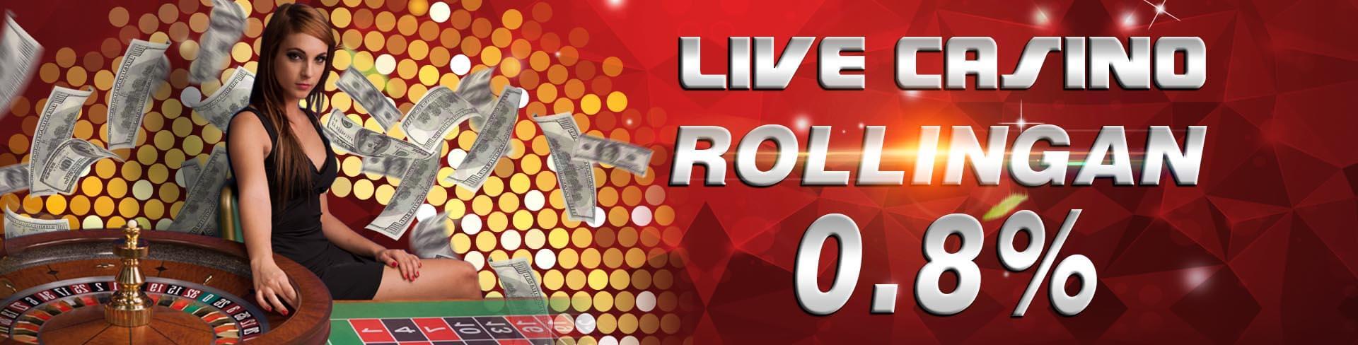 333Gaming memberikan bonus rollingan judi live casino online hingga 0.8% setiap harinya untuk semua member setia casino online
